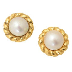 DAVID WEBB Mabe Pearl Earrings