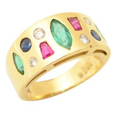 Multi Stone Gold Ring