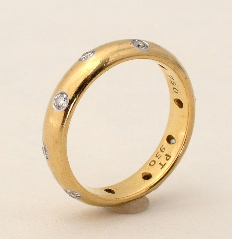 Tiffany And Co Etoile Diamond Gold Band Ring For Sale At
