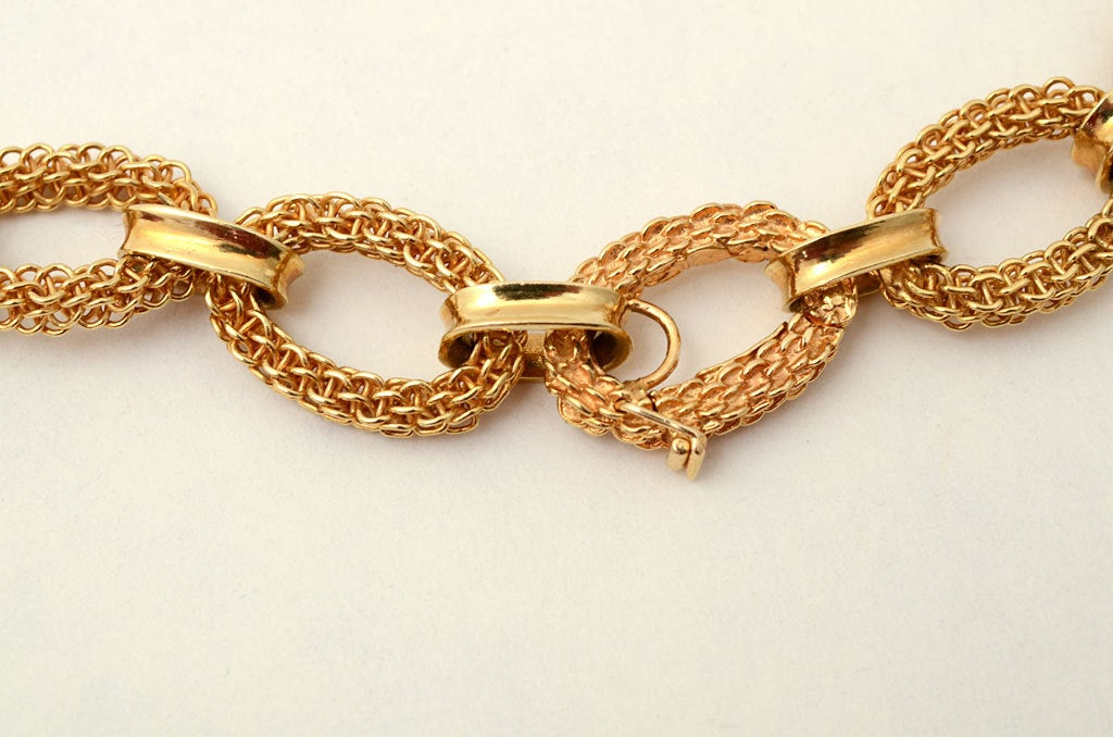 Van Cleef & Arpels Gold Link Necklace 5