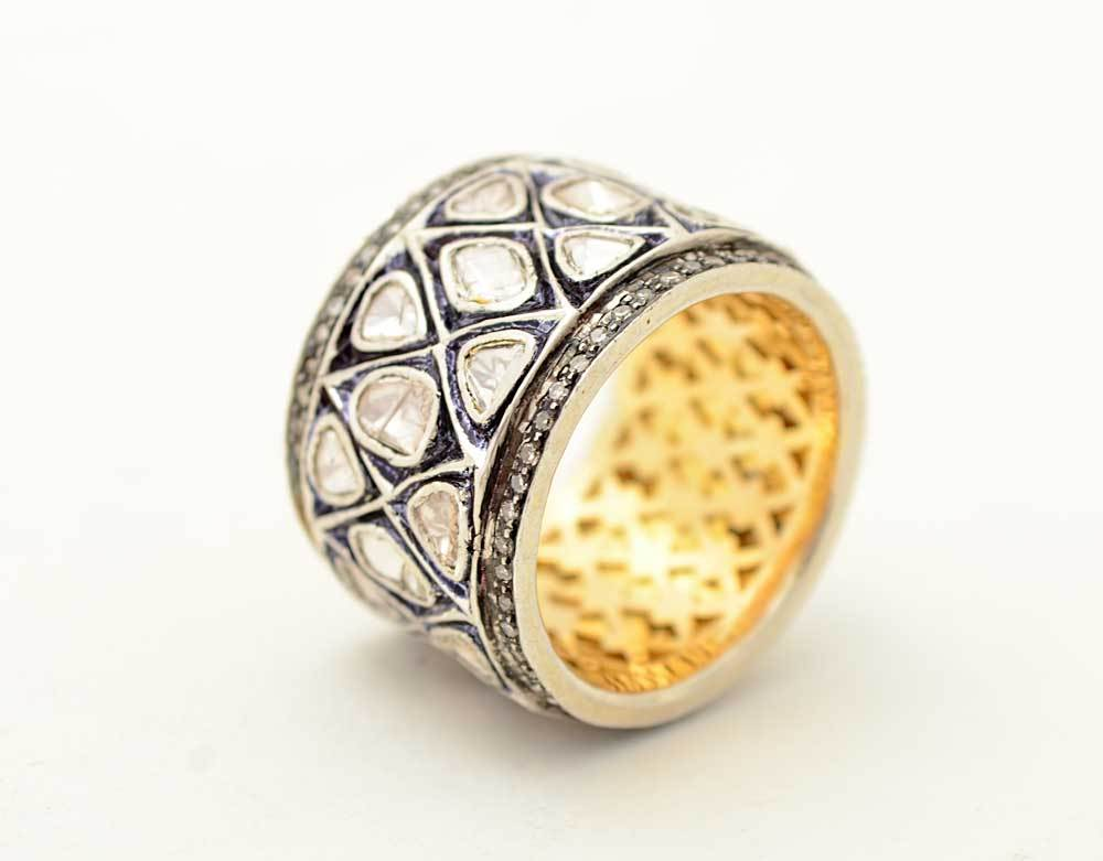 Uncut Black Diamond Ring Uncut Diamonds Ring Image
