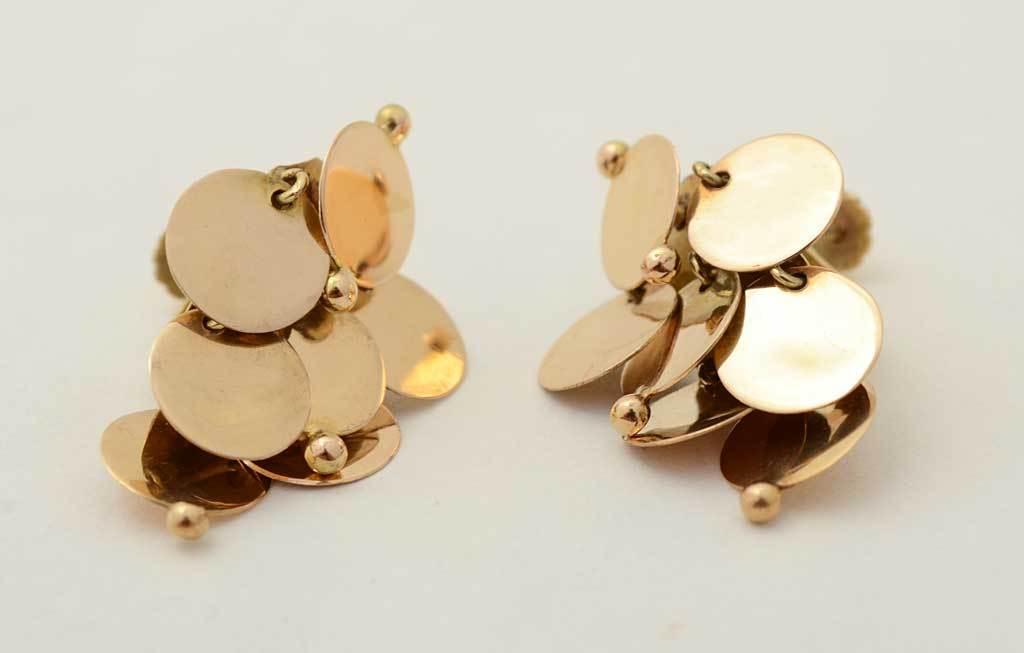 WILLIAM SPRATLING  Gold Dangle Earrings 2