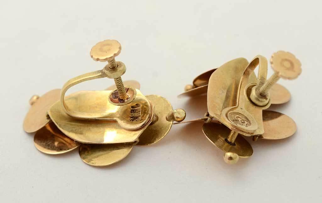 WILLIAM SPRATLING  Gold Dangle Earrings 3