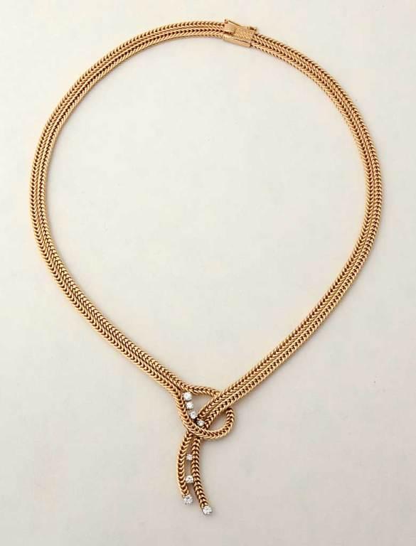 RETRO Gold and Diamonds Lariat Necklace 5