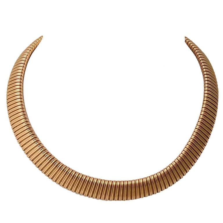Retro Snake Link Necklace 1