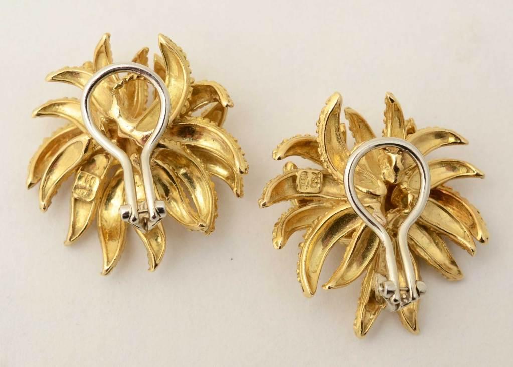 Sea Anemone Gold Earrings 2