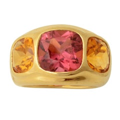 SEAMAN SCHEPPS Gypsy Ring with Tourmaline and Citrine