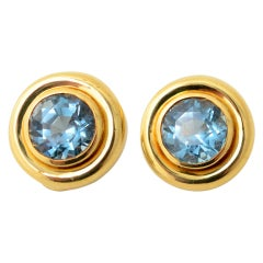 Paloma Picasso Blue Topaz Earrings