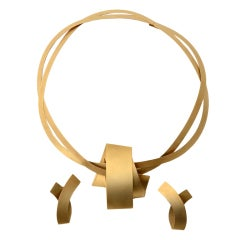 Niessing Gold Necklace and Earrings