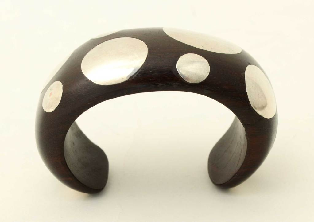 William Spratling Silver And Ebony Cuff Bracelet At 1stdibs