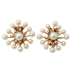 Gold and Pearl Earrling