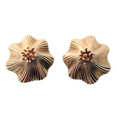 Tiffany & Co. Gold Flower Earclips