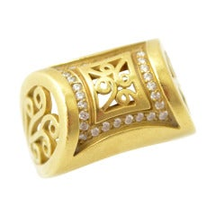Barry Kieselstein Cord Diamond Gold Ring