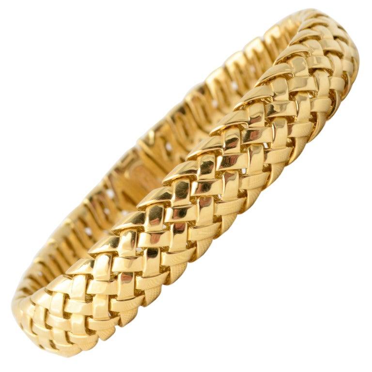 tiffany gold braided bracelet. Black Bedroom Furniture Sets. Home Design Ideas