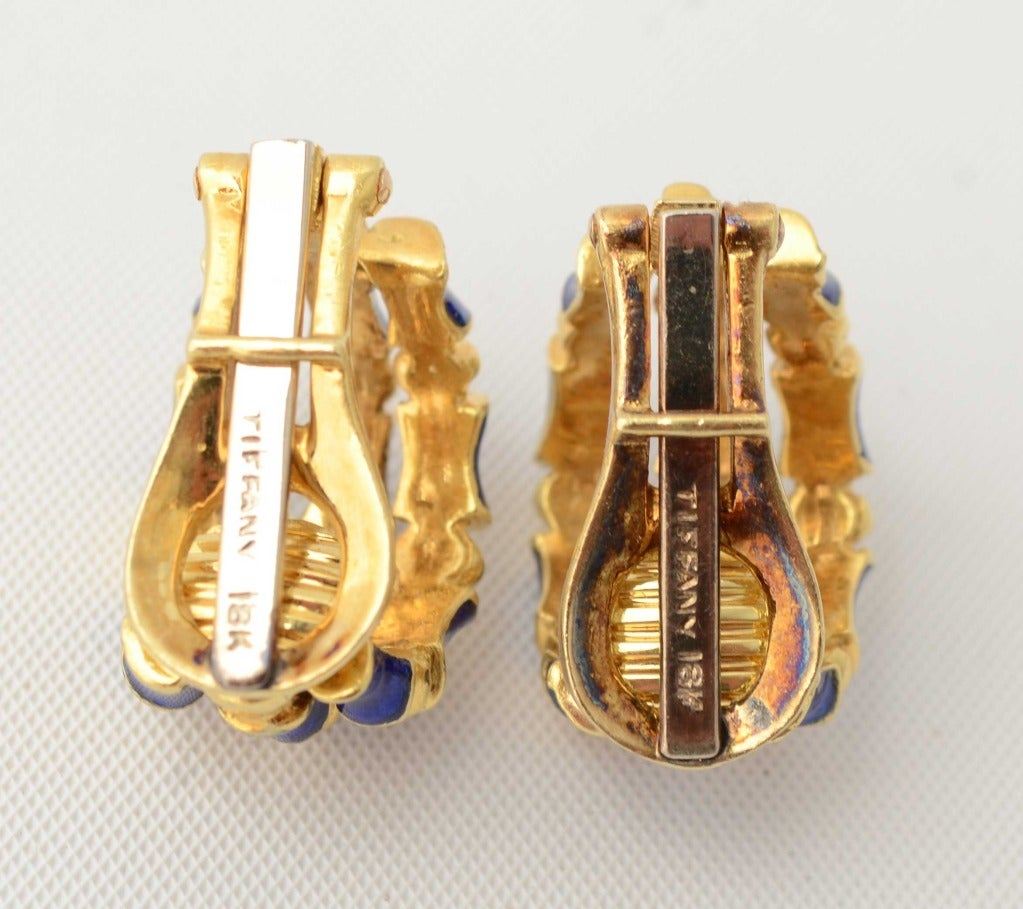 Tiffany & Co. Enamel Gold Bamboo Earrings 3