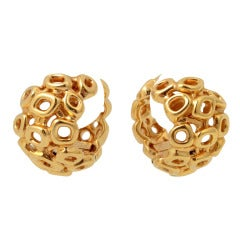 PALOMA PICASSO Huge Gold Earrings
