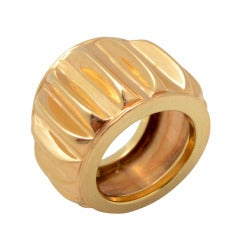 SEAMAN SCHEPPS Heavy Banded Gold Ring