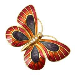 deVroomen Enamel Butterfly Brooch
