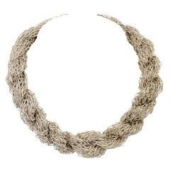 Tane Multistrand Silver Necklace