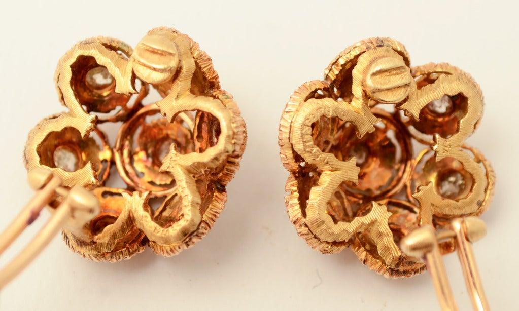 Buccellati Diamond Gold Earrings 2