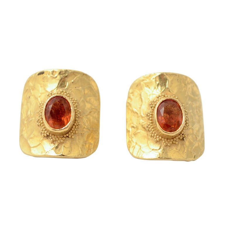 Ed Wiener Citrine Gold Earrings