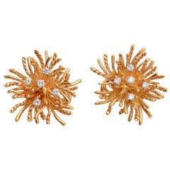 Tiffany & Co. Diamond Gold Earrings