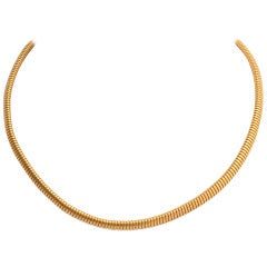 Tubogas Gold Choker Necklace