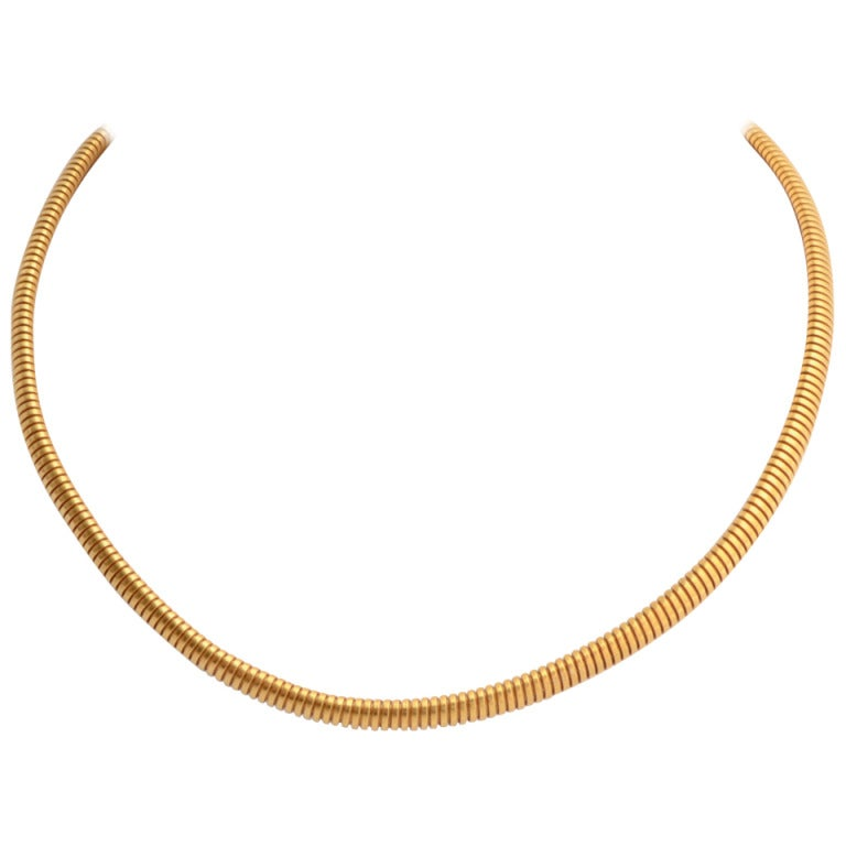 Tubogas Gold Choker Necklace