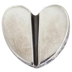 Kieselstein-Cord Silver Heart Brooch