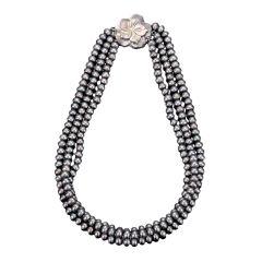 Three-Strand Black Pearl Necklace