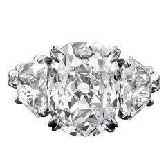 Brilliant-Cut, 5.50-Carat Golconda Diamond Ring