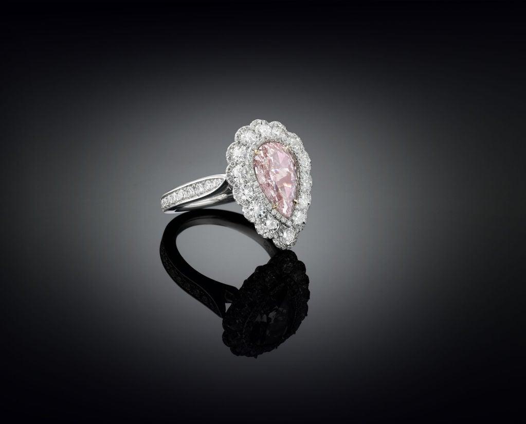 2.58 Carat Fancy Pink Diamond Ring  2