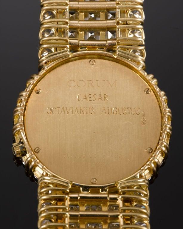 Corum Ladies Yellow Gold Diamond Quartz Wristwatch 5
