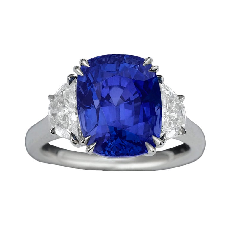 Burma Sapphire and Diamond Ring, 8.19 carats 1