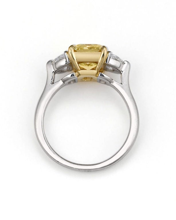 Natural Fancy Yellow Diamond Ring, 2.39 Carats image 2
