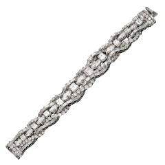 Magnificent French Fine Quality  Diamond Bracelet