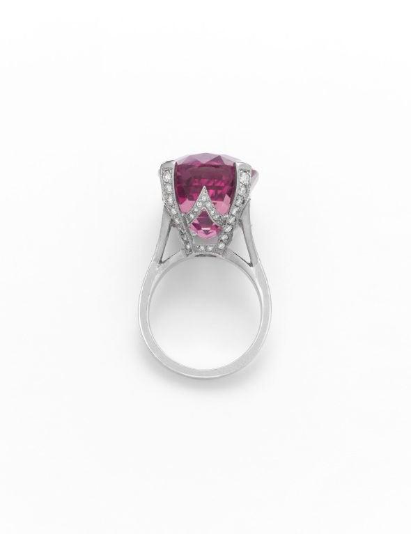 Pink Tourmaline & Diamond Ring 2