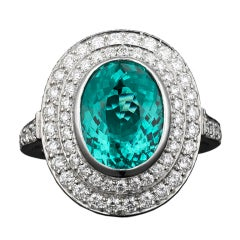 Tiffany & Co. Paraiba Tourmaline & Diamond Ring