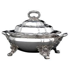 Tiffany Chrysanthemum Silver Entree Dish