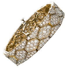 Diamond Arabesque Motif Link Bracelet