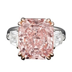 Highly Important Radiant Cut Fancy Pink Diamond
