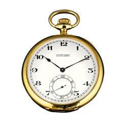 Ulysse Nardin Yellow Gold Open Face Pocket Watch