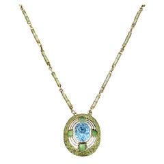 Tiffany Studios Aquamarine Necklace
