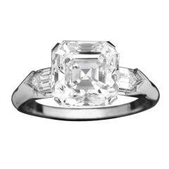 HARRY WINSTON Asscher-Cut Golconda Diamond Ring
