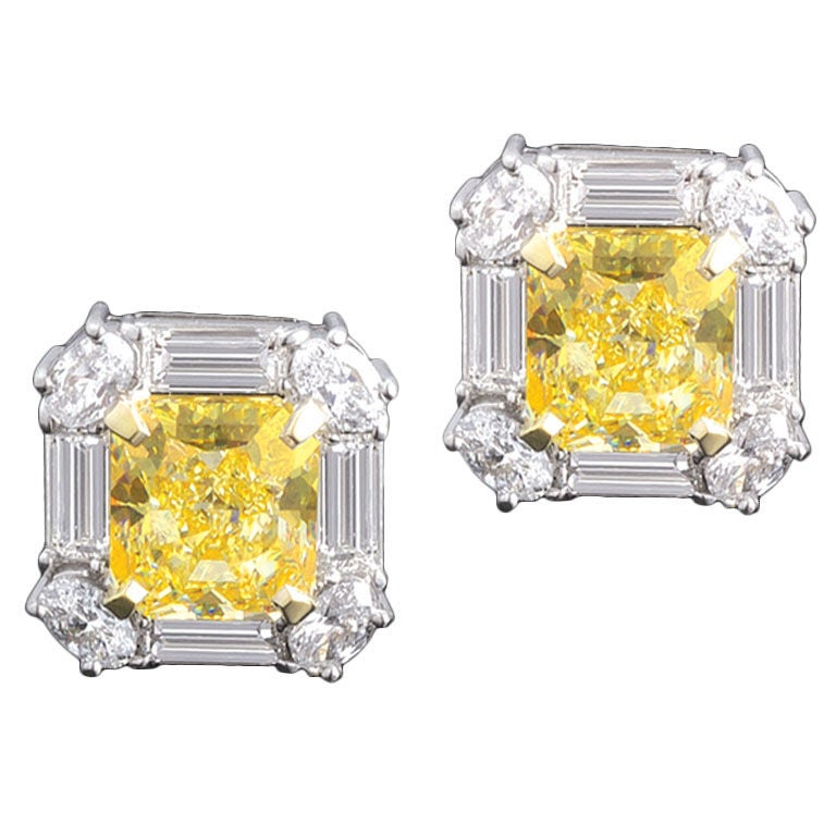 Sorry, this item from M.S. Rau Antiques is not available. Yellow Diamond Stud Earrings