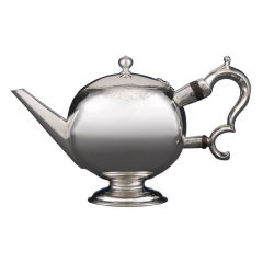 Scottish Silver Bullet Teapot by Edward Lothian