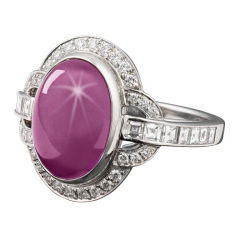 Tiffany & Co. Star Ruby & Diamond Ring