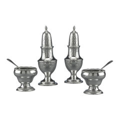 Early American Silver Salt and Pepper Service