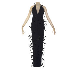 Stephen Sprouse Feather Gown