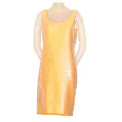 Stephen Sprouse Apricot Orange Sequin Dress